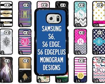 Choose from 70 Monogram / Personalized Designs Samsung Galaxy S6 Black Rubber. Galaxy S6 Edge Plastic. S6 Edge Plus Black Rubber Phone Case