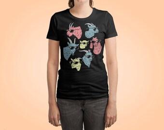 Goat Shirt by Ronan L. - Goat T Shirt / Baby Goat Tshirt / Goat Art / Goat Gifts / Funny Goats / Animal shirt / Goat Lover / Mountain Goats