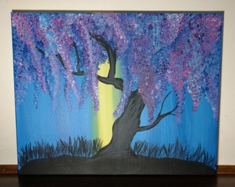A Ray of Hope, magical tree, Colorful Blossom