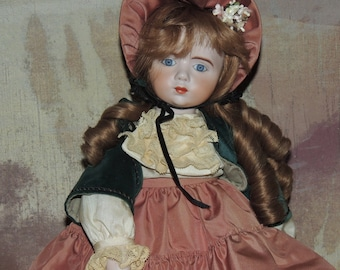 A Marque 20 inch Repro Doll by Sally Freeman 1983