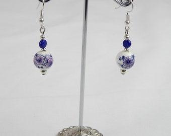 Ceramic Japanese style earrings