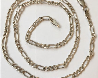 Sterling silver Curb link chain 925 Vintage