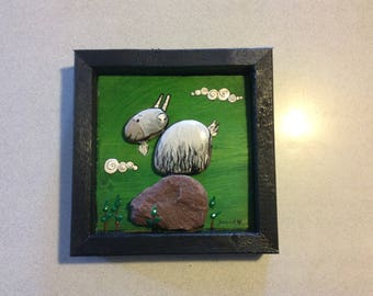 Painted Stone Mountain goat