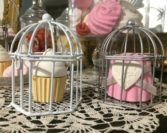 with cake made of cast metal cage, gluttony