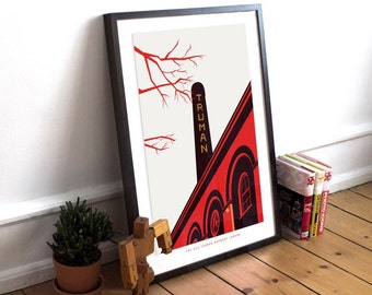 The Old Truman Brewery London Illustrated poster print - Matte and Giclee Art Prints. Brick Lane Prints - Gifts for Londoners  London Prints