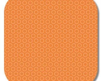 Riley Blake, Super Star Collection, Cheery Circle in Orange, 1 yard C3093