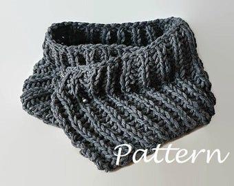 KNITTING PATTERN Knit Scarf Pattern Eternity Scarf Knitting Pattern Knitting Scarves Pattern