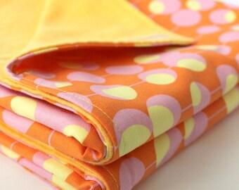 Sherbert Scoops Baby Blanket. Cotton and Flannel Infant Swaddling Blanket