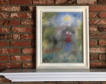 "Wall Art, Titled ""Two Souls"" My Original Oil Painting On Canvas Contemporary Wall Art Apartment Therapy Artwork Item #501857197"