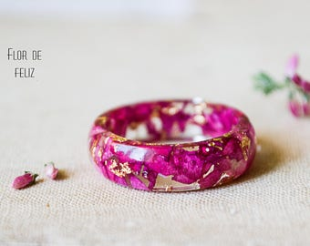 Real Rose Ring Terrarium jewelry Real flower ring, Botanical resin ring, Flower jewelry, Nature resin rose ring, Botanical Ring