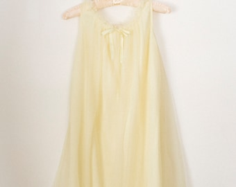 Buttercup Yellow Chiffon Nightgown
