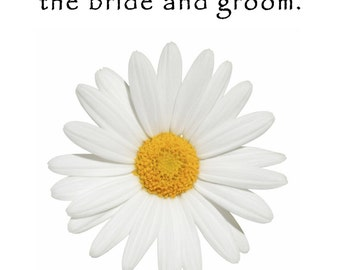 Personalized Wedding Favor Wildflower Seed Packets White Daisy Favors 6 verses to choose from Set of 100