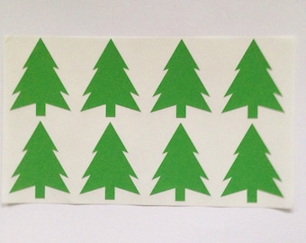 Christmas Tree Stickers - Set of 16, Planners, PL, Project Life, Snail Mail, Mail Art
