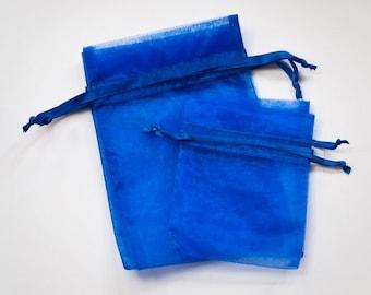 Royal Blue Organza Bags, 3x4 Wedding Favor 200 Organza Bags