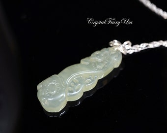 Chinese Jade Necklace - Green Jade Necklace Jade Jewelry Fengshui Necklace