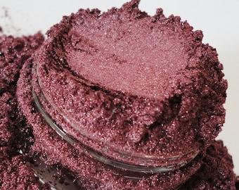 Burlesque Mineral  Makeup Eye Shadow 10g Sifter Jar raspberry red burgandy eyeshadow smokey eyes