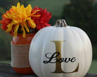 Personalized pumpkin, personalized fall decorations, Thanksgiving decorations, Fall centerpieces,Thanksgiving centerpieces,table arrangement