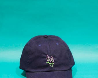 lavender love hat - hand embroidered apparel
