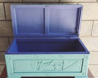 SOLD    Colour pop timber chest