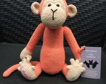 Medium Crocheted Monkey