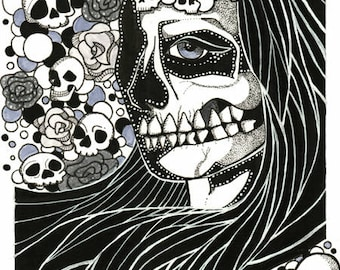 Skull Witch ORIGINAL Drawing