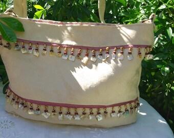 """Bag """"Collioure"""" in beige suede"""