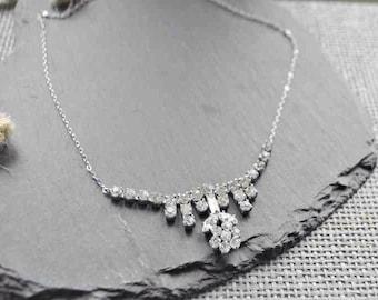 Vintage diamante bridal necklace