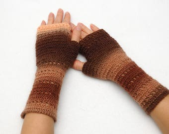 Crochet Fingerless Gloves Fall gloves Arm Warmers Wrist warmers Hand warmers Womens Gloves friend Gift for friend Winter Gloves for women