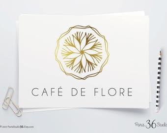 Instant Download PSD Logo Design Gold Foil Mandala Logo Photoshop Logo Design Template Restaurant Logo Yoga Logo Fitness Logo Gold Foil Logo