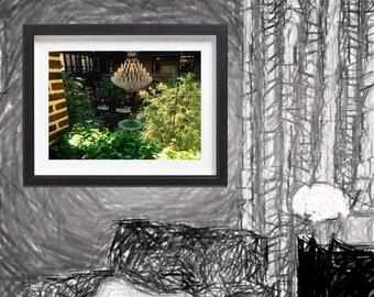 Indoor Garden Chandelier Print