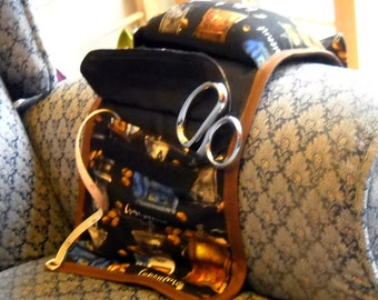 Coffee Shop Armchair Caddy, Hand Sewing Organizer