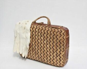 Vintage Wicker Bag / Wicker Bag / Wicker Purse / Wicker Handbag / Vintage Purse / Retro Bag / Vintage Handbag / Vintage Basket / Straw Bag /
