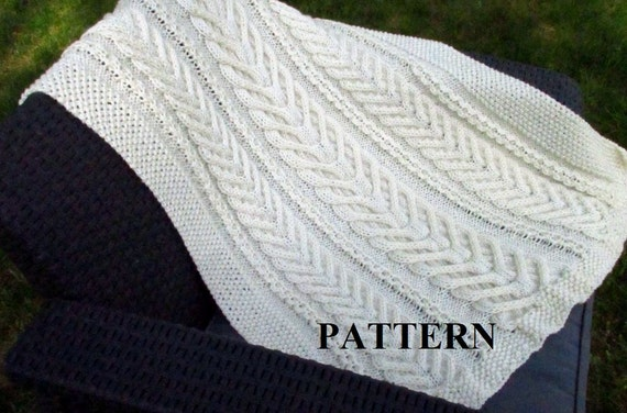 Knit Baby Blanket Pattern Baby Blanket Pattern Knitting Pattern