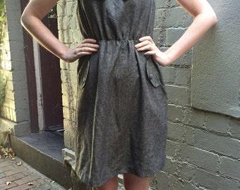 Brown Tweed Peter Pan Collar Dress
