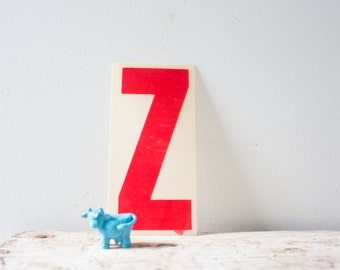 Vintage Letter Z - Red Marquee Plastic Letter Z Vintage Marquee Sign Vintage Sign Z Sign