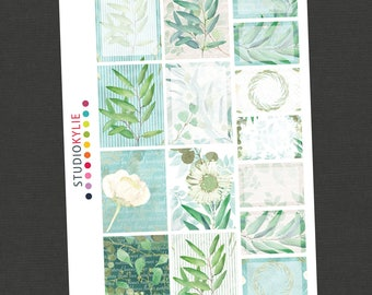 Eucalyptus - Full Boxes and Half Boxes  - To suit Erin Condren Vertical and other Planners - Repositionable Vinyl