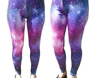 Galaxy Leggings Original Print Space Leggings Universe MTO & In Stock Sz XS-5XL