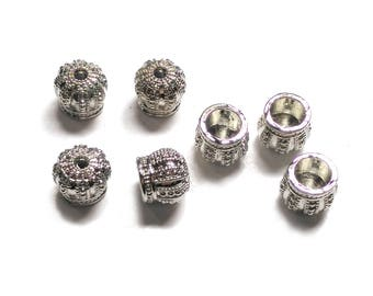 2 Tassel Cap, Crown Cap, Metal Bead Caps, Silver Crown, Bead Cones, 10x9mm