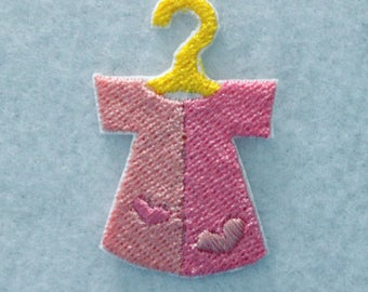 Tiny Baby Dress Patch, Baby Dress Patch, Embroidered Patch, Tiny Patch, 2 Inch Patch, Nursery Patch, Iron On Patch, Patches, Small Patch