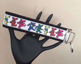 Wrist Strap Key Fob/Grateful Dead/Dancing Bears