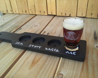 Chalkboard Beer Flight Paddle,  Tasting Flight Paddle, Tasting Flight, Beer paddle, Beer tasting, beer sampler.