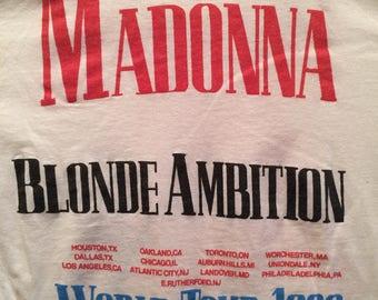 Madonna T-Shirt 1990 Blond Ambition World Tour