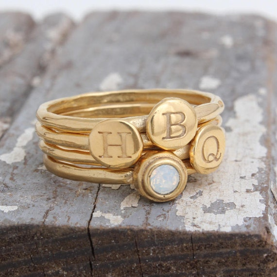 Design Your Own Ring: Design Your Own Set Of Gold Stackable Rings Stacking Rings