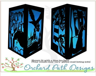 Harry Potter themed paper lantern for themed wedding, party, birthday, centerpieces, table decoration, Hogwarts, Slytherin, Gryffindor