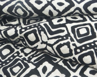 """Dressmaking Fabric Cotton Fabric For Sewing Designer Pure Cotton Fabric Abstract Print Black 44"""" Wide Sewing Curtain Drape By 1 Yard ZBC6779"""