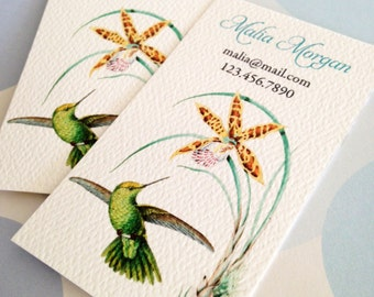 Personalized Hummingbird Business Cards - Set of 50