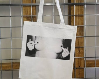 FREE THE NIPPLE / feminist tote / feminism bag / smash the patriarchy