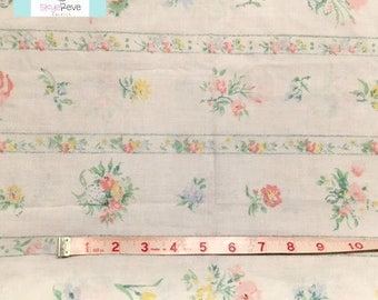 Vintage Pillowcase with Delicate Pastel Floral