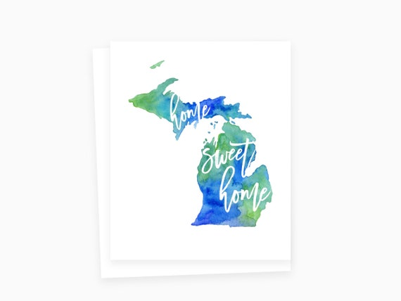 Home sweet home michigan card michigan greeting cards like this item m4hsunfo Images