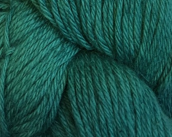 Deep Teal Cascade Hampton Pima Cotton and Linen DK Weight Yarn 273 yards color 15